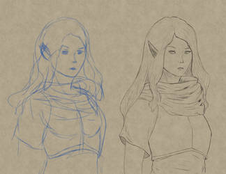 210328 Sketch and LineArt practice