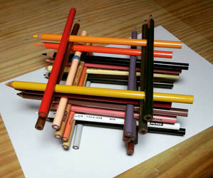 Tower of pencils