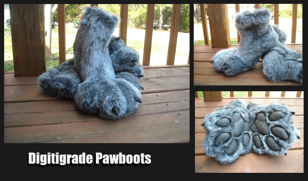 Pawboots - Wolf by TheDemonSurfer