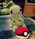 Crochet Chikorita Plushie