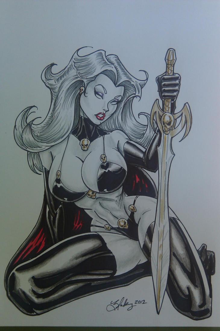 Lady Death by Cameron Blakey by cameronblakeyart
