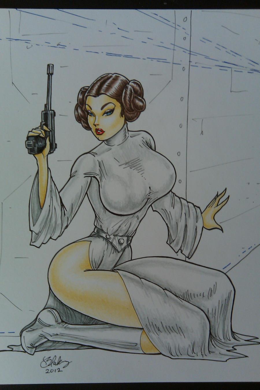 Princess Leia by Cameron Blakey by cameronblakeyart