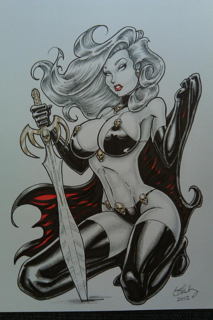 Lady Death 4 by Cameron Blakey by cameronblakeyart