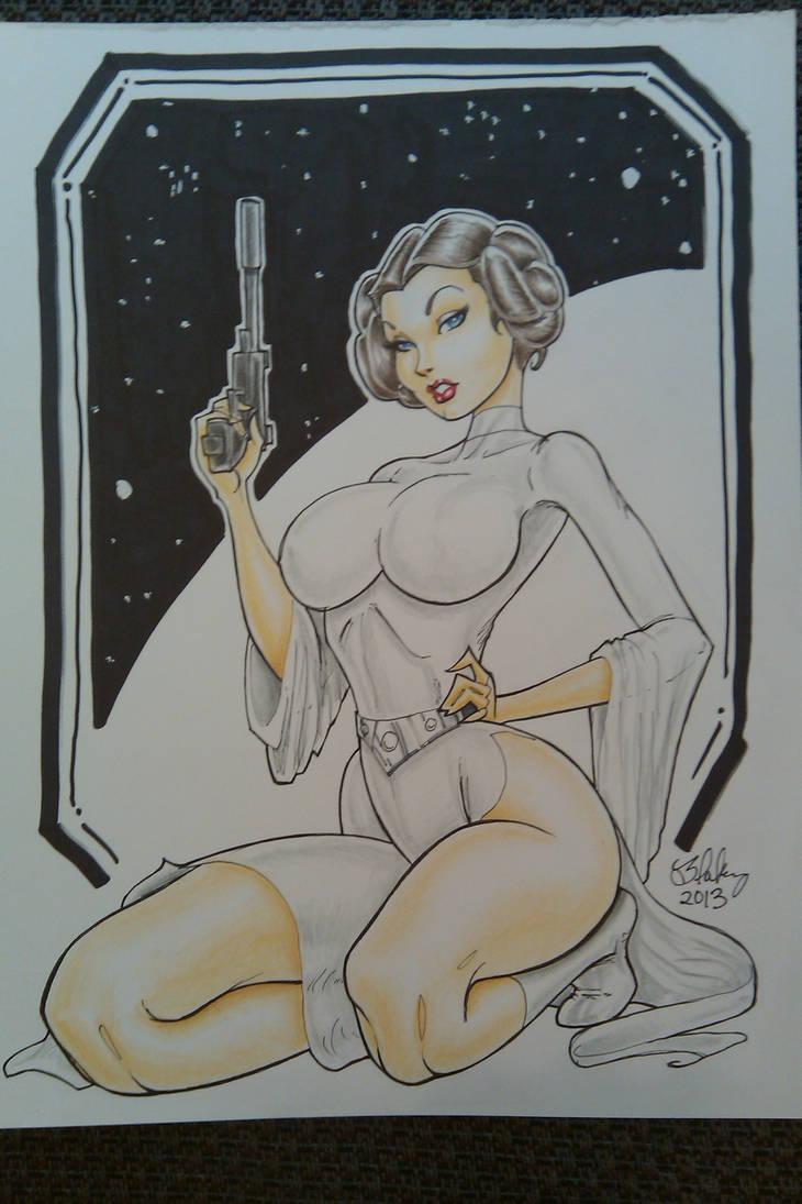 Princess Leia 2 by Cameron Blakey by cameronblakeyart