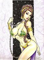 Slave Leia by Cameron Blakey by cameronblakeyart