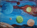 Planets and Sun Collage