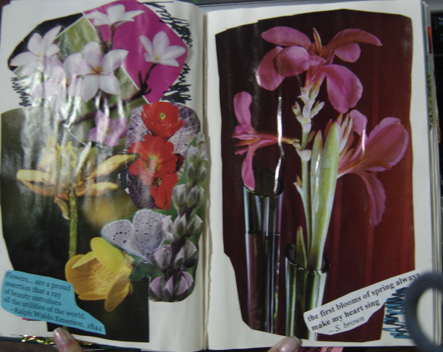 1st Altered Book 15, Favorites by angelstar22