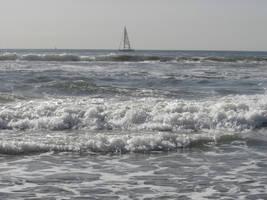 Venice Beach, ocean, sailboat by angelstar22
