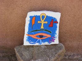 Egyptian Symbol Painting by angelstar22