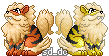 Pokemon Re-Pixeled: G1 Arcanine by SD-DreamCrystal