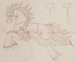 Gunnar incomplete sketch by DreamCrystalArt
