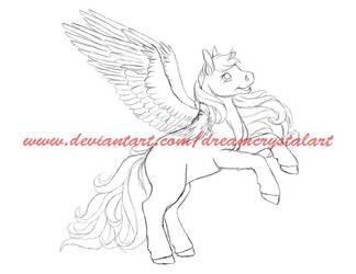 Sketch: OC Pony WIP by DreamCrystalArt