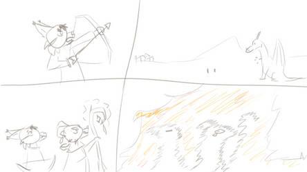 Dragon Fight by Blizzardpelt-21