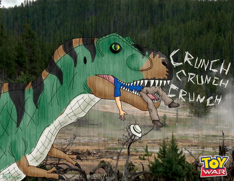Toy War Bull T. rex by Erikku8