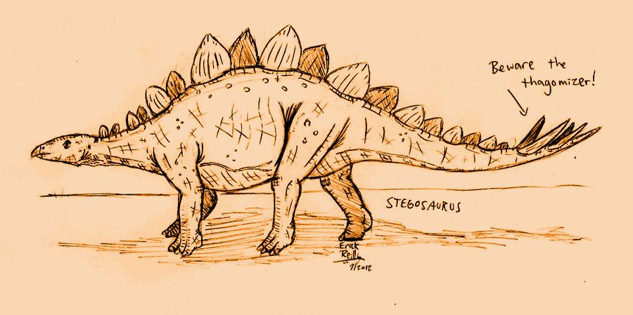 Stegosaurus by Erikku8