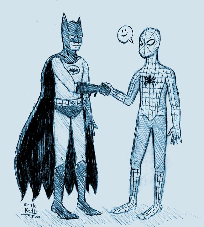Batman and Spider-Man by Erikku8