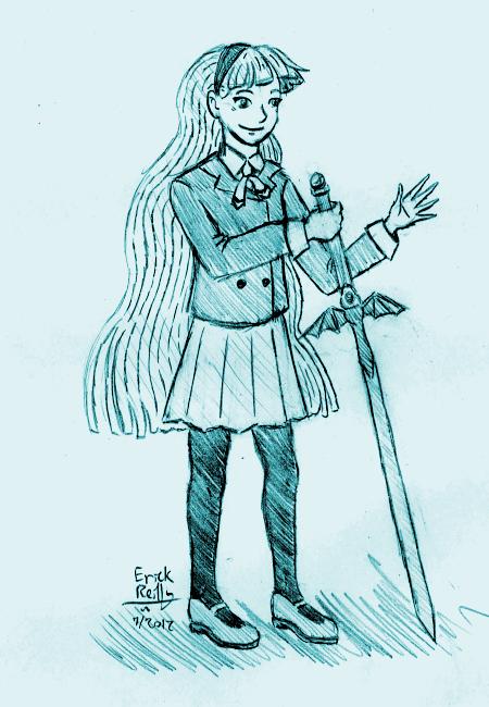 Umi from Magic Knight Rayearth by Erikku8