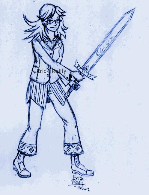 Sword stance by Erikku8