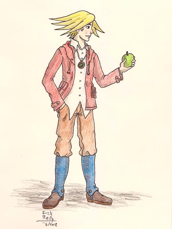 I've got an apple! by Erikku8