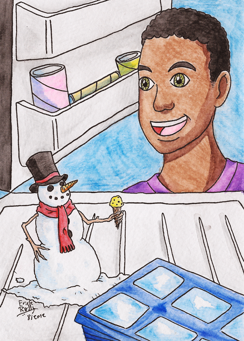 There's a Snowman in my Freezer by Erikku8