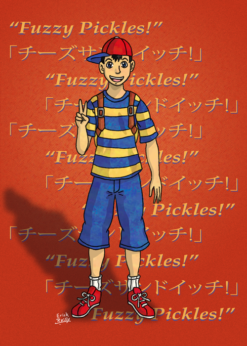Ness from EarthBound by Erikku8