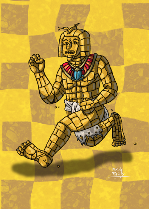 The Petrified Royal Guard from EarthBound by Erikku8