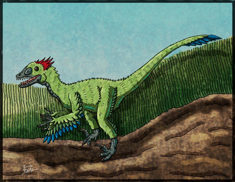 Deinonychus by Erikku8