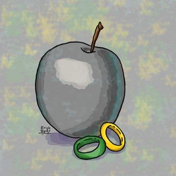 Rings and an Apple by Erikku8