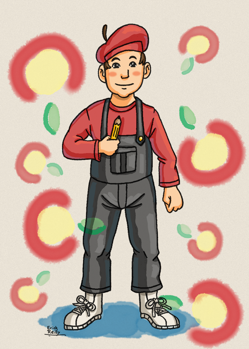 Apple Kid from EarthBound by Erikku8