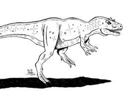 Allosaurus by erickreillyart