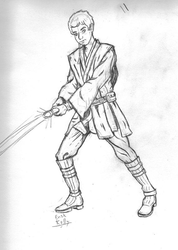 Anakin Sketch by Erikku8