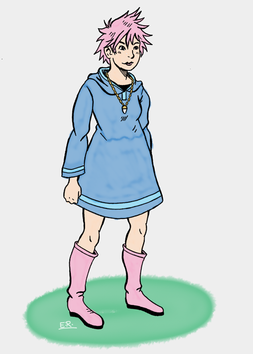 Kumatora Sketch by Erikku8