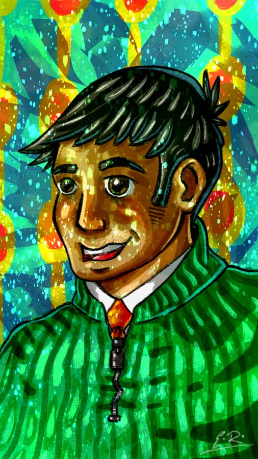 Green Sweater by Erikku8
