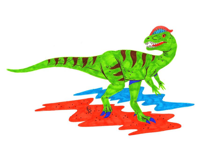 Dilophosaurus by Erikku8
