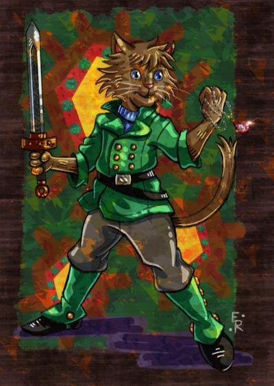Steampunk Cat Fighter by Erikku8
