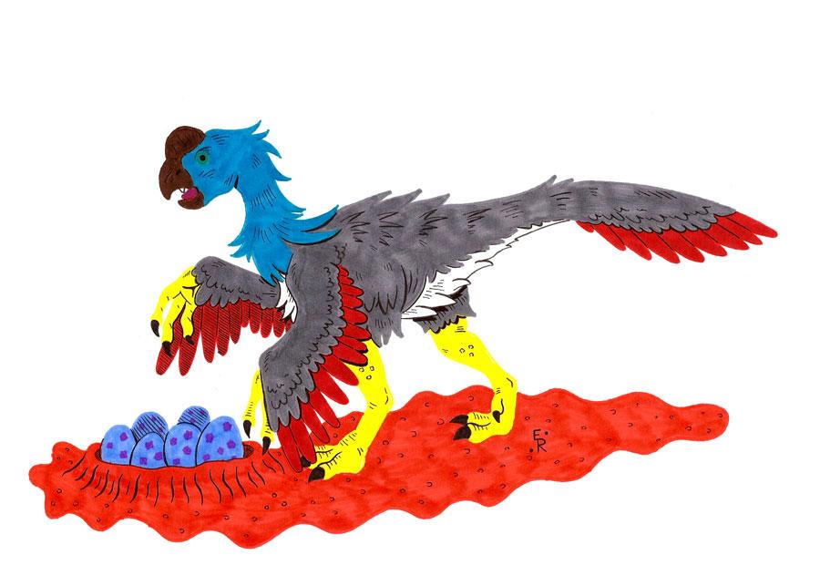 Oviraptor by Erikku8