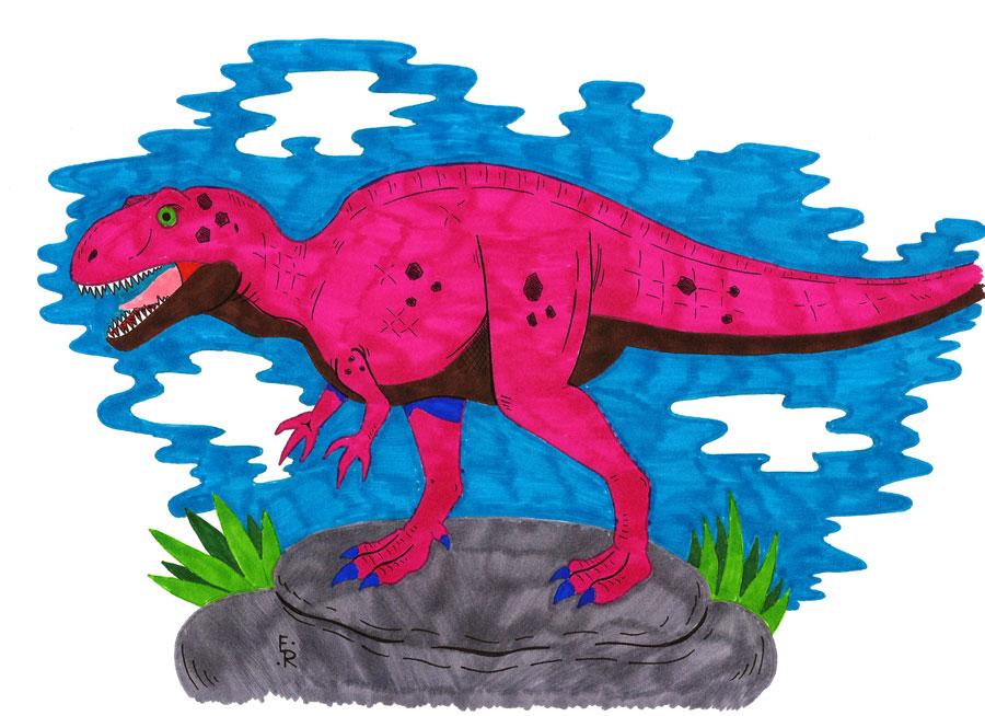 Acrocanthosaurus by Erikku8