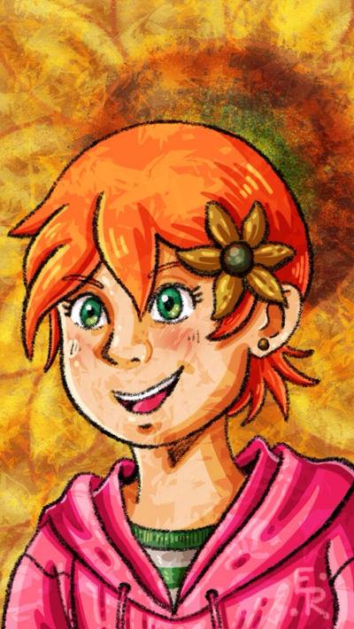 Sunflower Girl by Erikku8