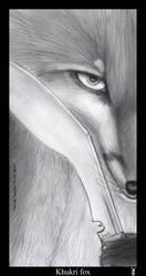 Khukri fox BW by Foxia