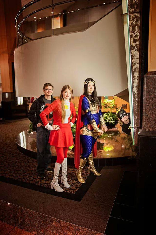 Big Barda, Saturn Girl, Bat Girl by Ashillingburg