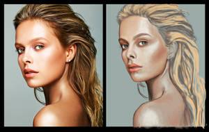 Portrait Color Study WIP part 2