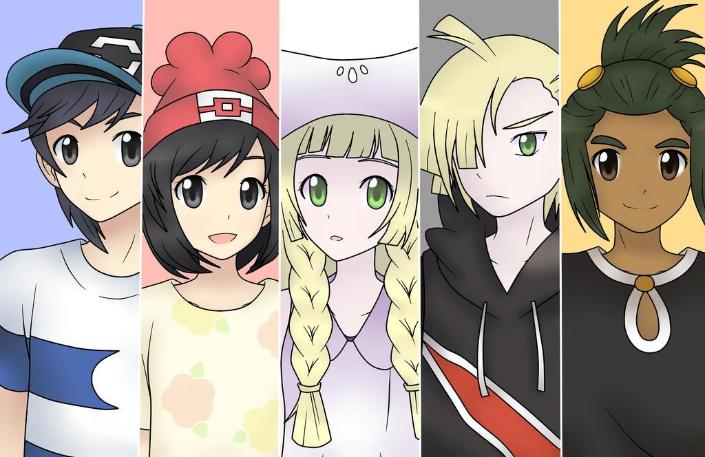 Pokemon Sun And Moon Characters 646170263