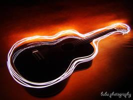 ... guitar light-painting... by bogdanici