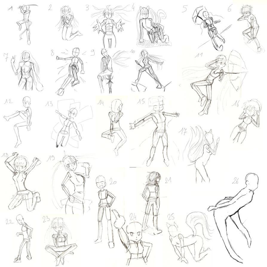 practise on manga posesmangarenodaioh on deviantart