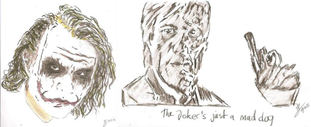 joker faces drawings