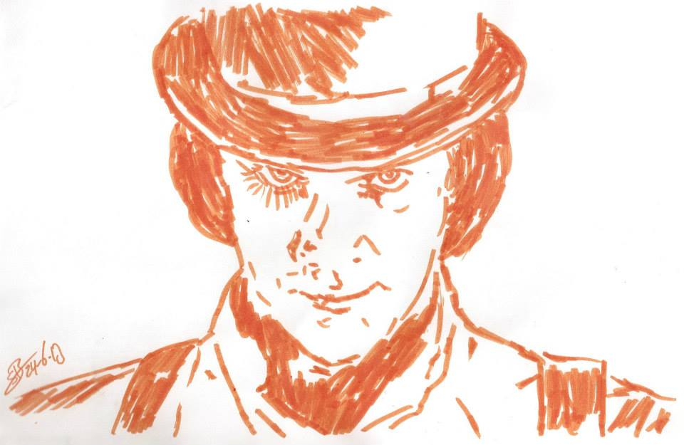 Clockwork Orange Alex DeLarge McDowell drawing by ...