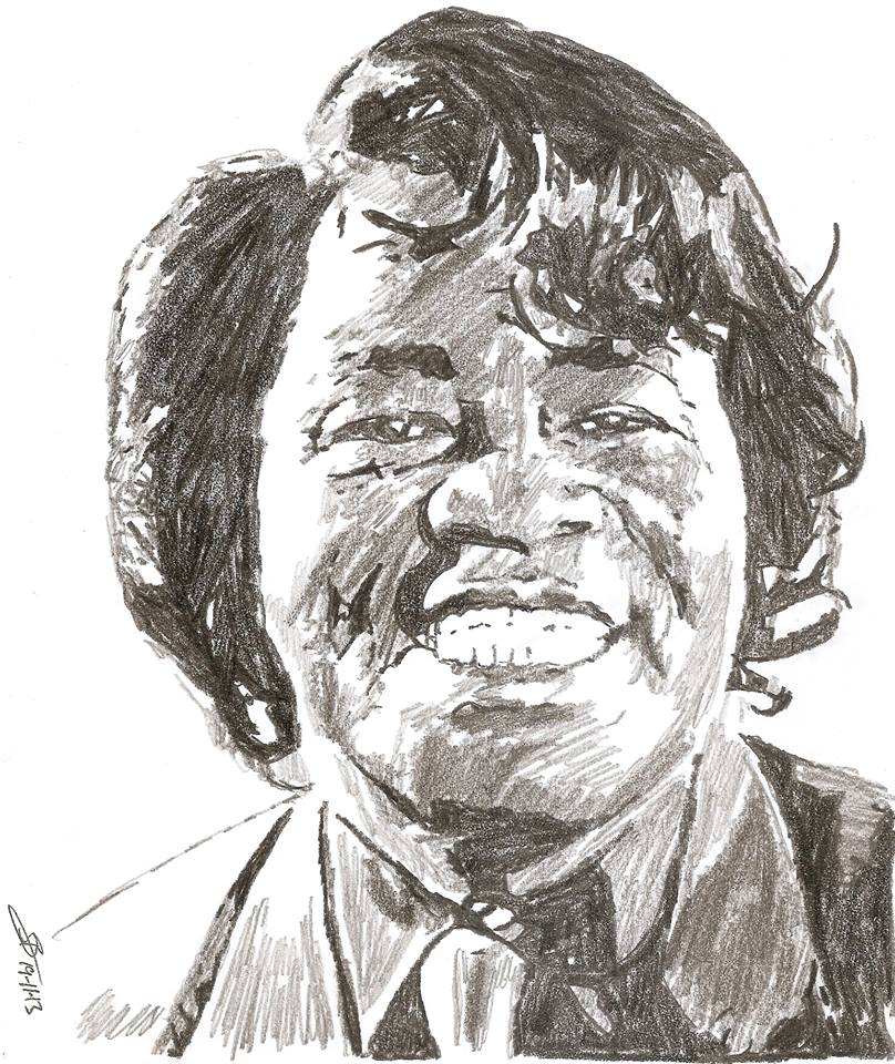 James Brown drawing by SBdrawings