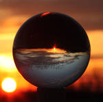 Sunset through a crystal ball by twombold