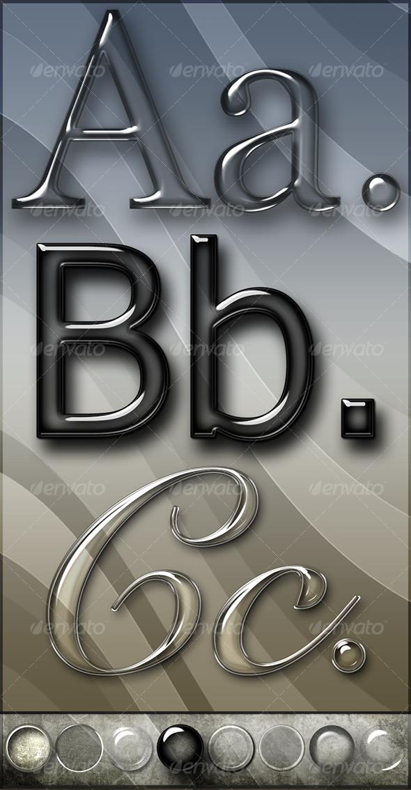Glass Text and Layer Styles by WebTreatsETC