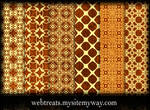 Ornate Grungy Golden Patterns